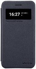 Чохол-книжка Nillkin для LG K10 (2017) X400 Sparkle ser. Чорний, фото 3