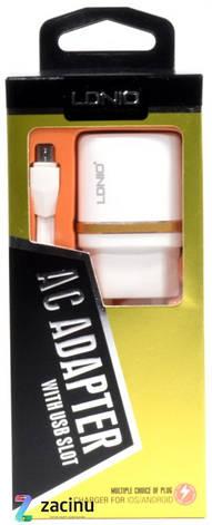 Зарядное устройство LDNIO DL-AC50 1A + Кабель micro USB Белый, фото 2