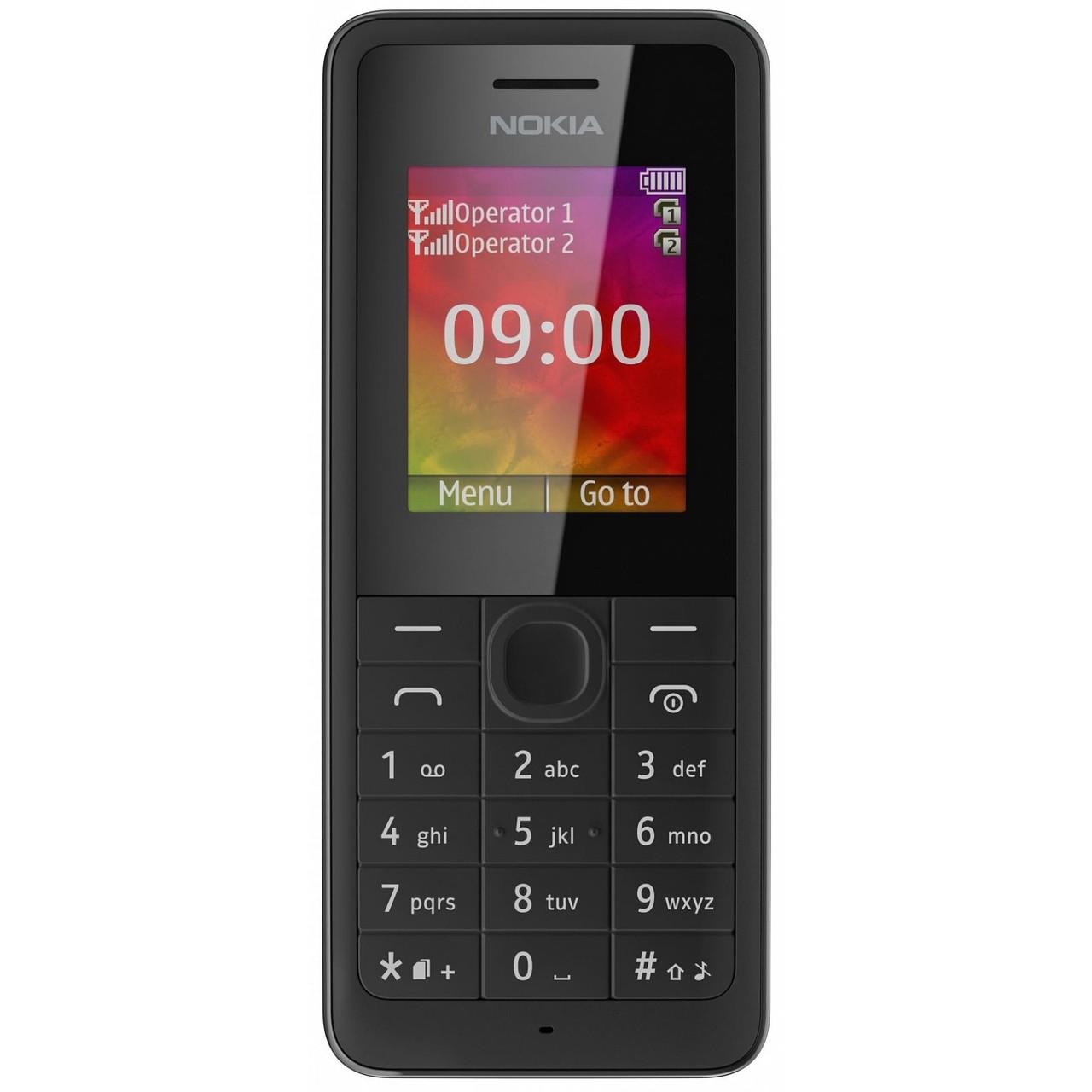 Мобільний телефон NOKIA 107 black