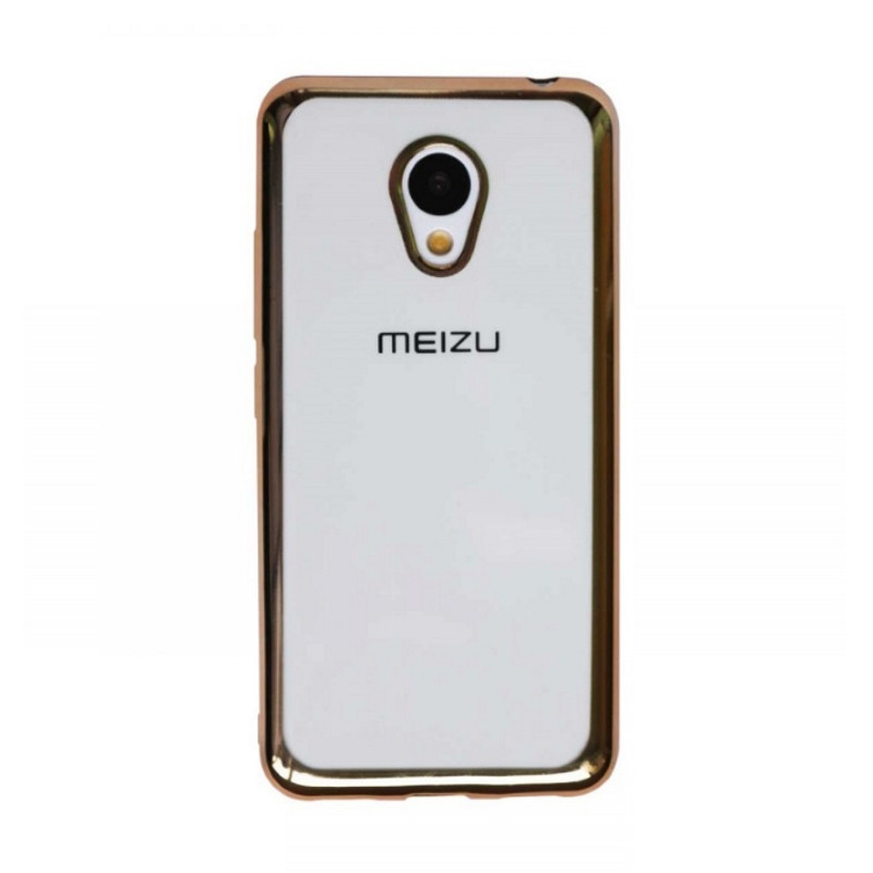 Чохол-накладка для Meizu M3/ M3 mini/ M3s Прозорий/золотистий(308464)