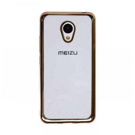 Чохол-накладка для Meizu M3/ M3 mini/ M3s Прозорий/золотистий(308464), фото 2