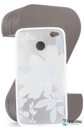 Чохол-накладка для Xiaomi Redmi 4X TPU Soft touch ser. Малюнок Квітки Матовий/блакитний, фото 2
