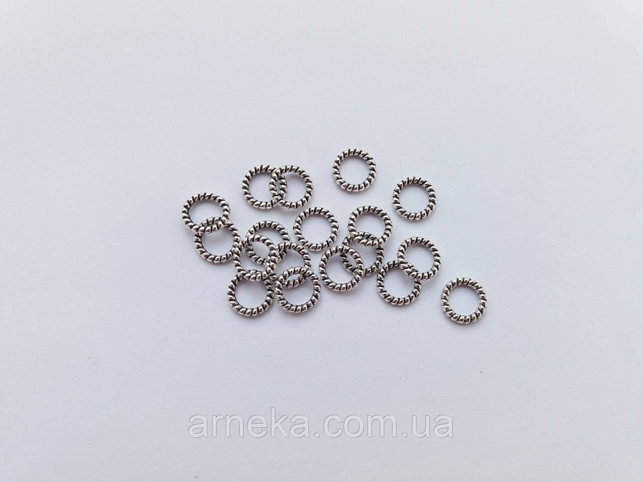 Декоративное колечко крученое 0,9 см метал