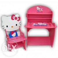 Детская парта и стул JY-8888H лучший подарок для девочек «Hallo Kitty»КИЕВ