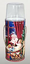 """Новогодняя упаковка - """"Санта Клаус"""" с двумя прозрачными крышками"""
