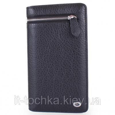 Кошелек мужской кожаный st leather accessories nst291-black