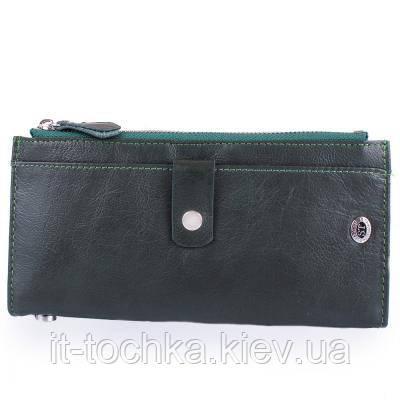 Кошелек женский кожаный st leather accessories nst420-green