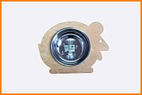 Миска для кошек на деревянной подставке