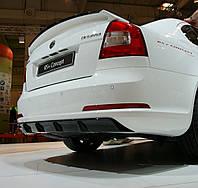 Диффузор на задний бампер Skoda Octavia A5 RS