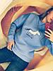 Свитшот женский на флисе Единорог (42/46 универсал) (цвет голубой) СП