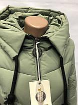"Женский пуховик ""Button"", модель 72-903 синий, фото 2"
