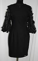 Платье черное по фигуре, красивые рукава, Турция, фото 1