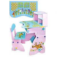 Детская парта со стульчиком Bambi (Metr+)  W 035 (стол-парта) растишка (регулируемая) киев, фото 1