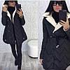 Куртка - пальто женская ЗигЗаг (42/44, 44/46) (цвет черный) СП