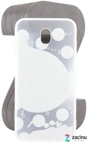 Чехол накладка TPU для Samsung J730F J7 (2017) Fashion ZOO ser. Кит Прозрачный / матовый, фото 2