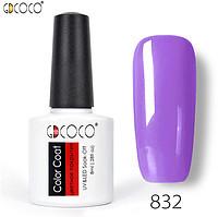 Гель-лак GDCOCO 8 мл, №832 (розово-лиловый)