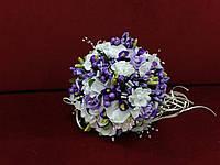 Свадебный букет-дублер из орхидей фиолетовый с молочным