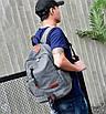 Рюкзак женский и мужской ZLD Серый, фото 2