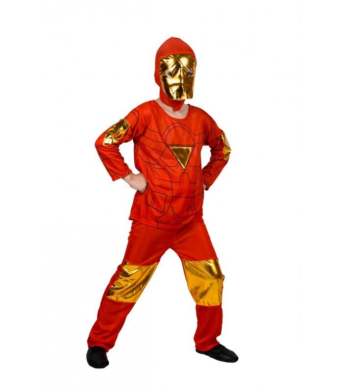 Детский маскарадный костюм Железного человека (кофта, штаны, маска) полиэстер