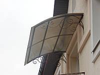 Навес на балкон  или двери, кованый 323