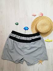 Шорты мужские пляжные чёрно-серые - 158-02, фото 3