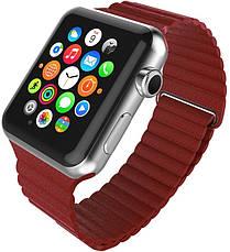 Ремінець для Apple iWatch 38mm Leather Loop Band ser. Red(993589), фото 3