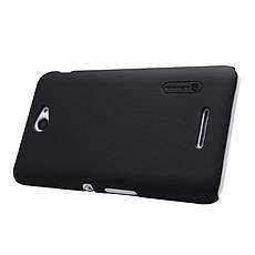 Чехол накладка Nillkin для Sony Xperia E4 Matte ser. + Пленка Черный, фото 2