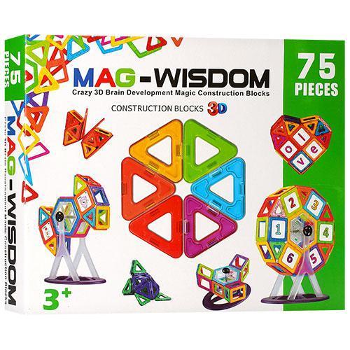Магнитный конструктор Mag-Wisdom KB04116, 75 дет