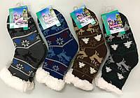 Шкарпетки-тапки з гальмами на хутрі ТМ Золото!!!