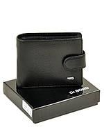 Натуральная кожаный мужской кошелек Dr.BOND М14 черный
