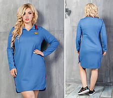 Модное трикотажное женское платье Красное. (5 цветов) Р-ры: 48-54. (138)943., фото 3