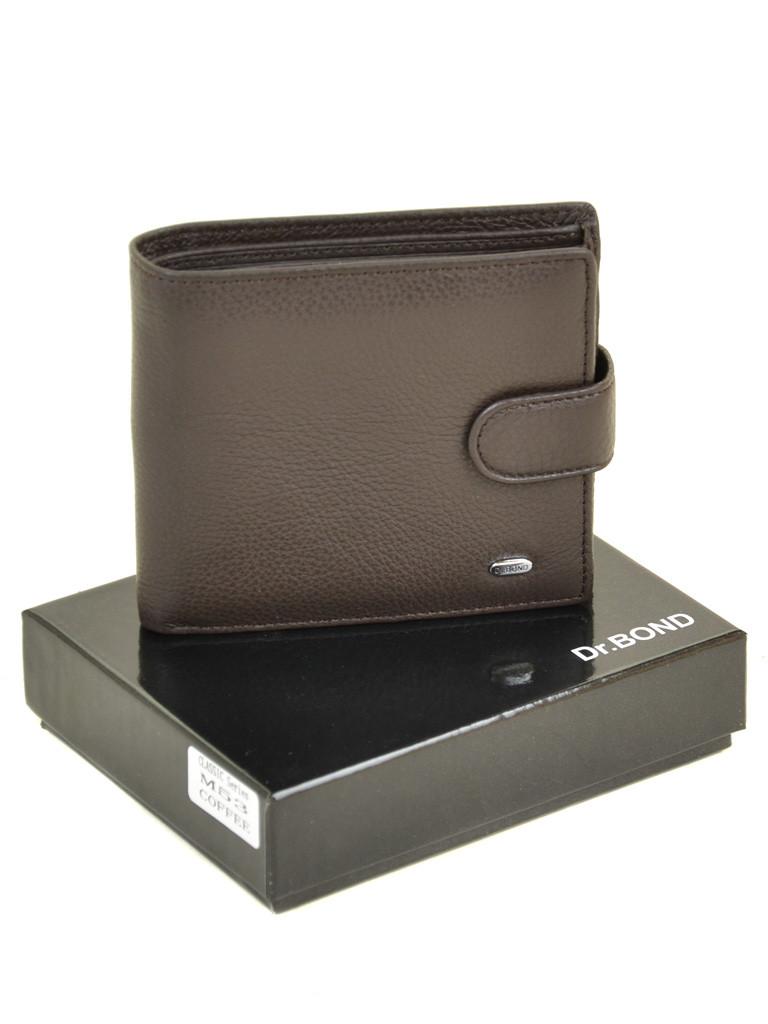 Мужской кожаный кошелек Dr.BOND м53/2 коричневый