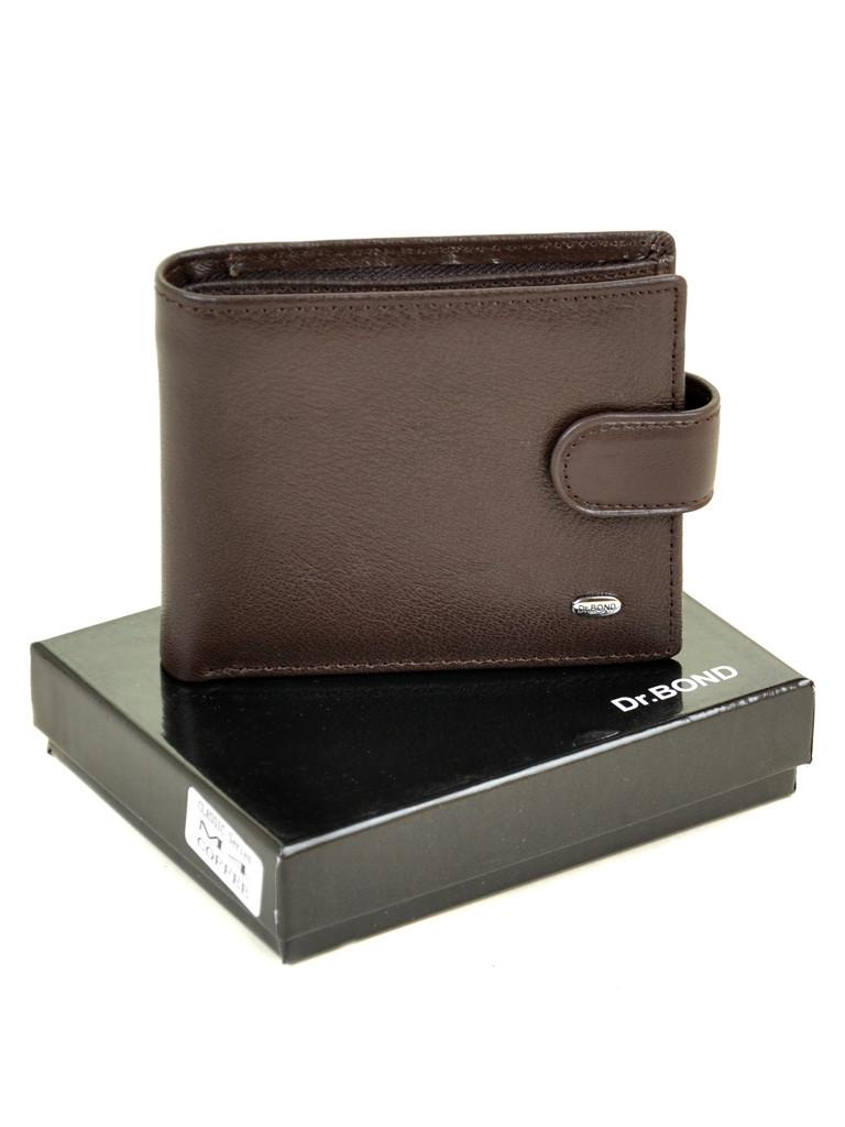 Натуральная кожаный мужской кошелек Dr.BOND М4/2 коричневый