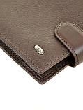 Натуральная кожаный мужской кошелек Dr.BOND М4/2 коричневый, фото 3
