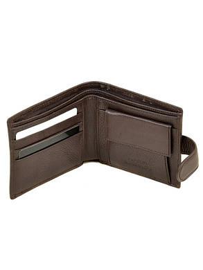Натуральная кожаный мужской кошелек Dr.BOND М4/2 коричневый, фото 2