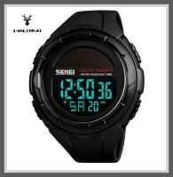 Мужские наручные часы на солнечной батарее SKMEI SOLAR (Black)