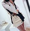 Рюкзак женский стеганый мини сумка ELIM PAUL Белый, фото 5