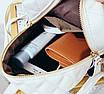Рюкзак женский стеганый мини сумка ELIM PAUL Белый, фото 10