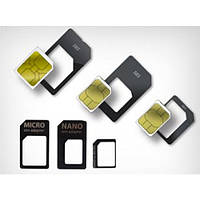 Micro-Sim Adapter 3-in-1 микро и нано Сим переходник для iPhone 4, 5, 6