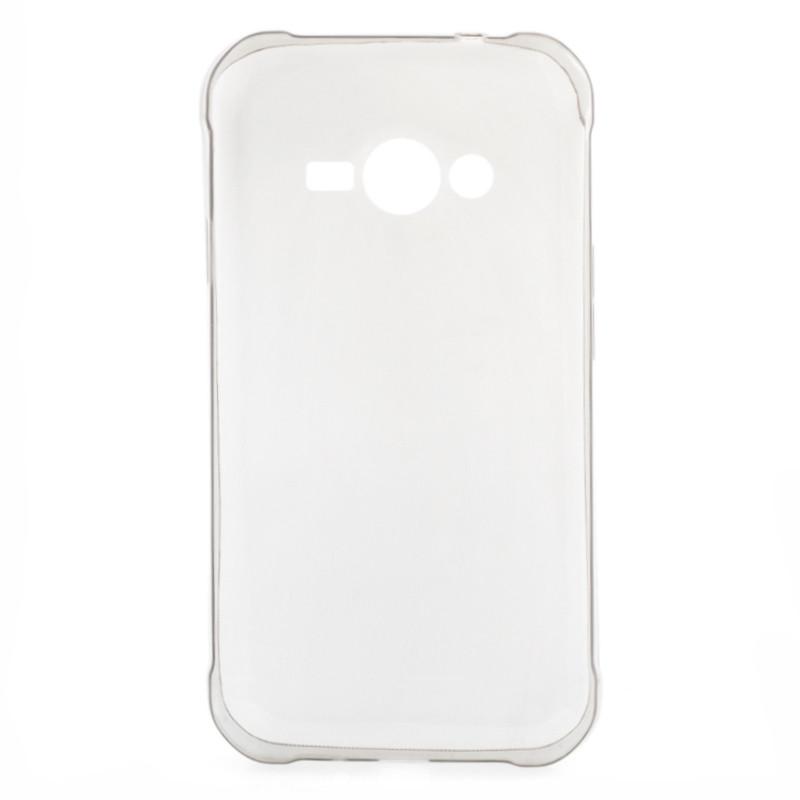 Чохол-накладка TPU для Samsung J110 J1 Duos Ultra-thin ser. Прозорий/сірий(286922)