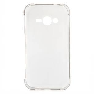Чохол-накладка TPU для Samsung J110 J1 Duos Ultra-thin ser. Прозорий/сірий(286922), фото 2