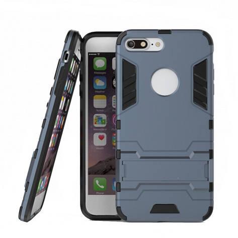 """Чохол-накладка Transformer для iPhone 7 Plus (5.5"""") Ударостійкий підставка Сірий, фото 2"""