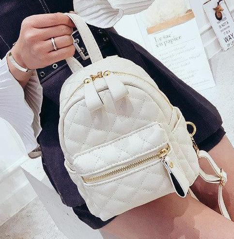 Рюкзак женский стеганый мини сумка ELIM PAUL Белый