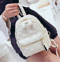 Рюкзак женский стеганый мини сумка ELIM PAUL Белый, фото 1