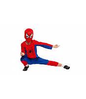 Детский маскарадный костюм Человека - паука (кофта, штаны, шапка - маска) полиэстер, фото 1