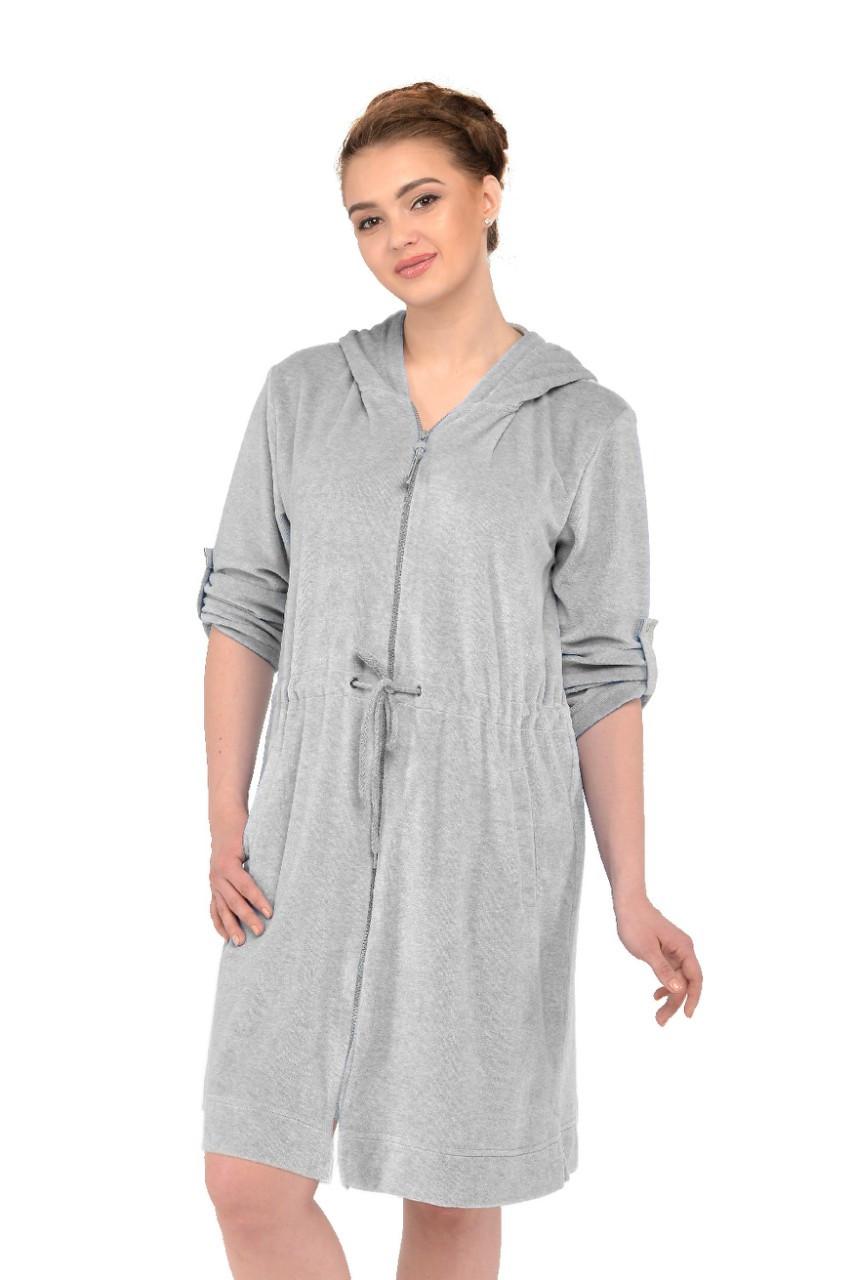 66c0dd6a68af Велюровый халат для беременных и кормящих Ice-Cream серый, цена 795 грн.,  купить в Киеве — Prom.ua (ID#805968806)