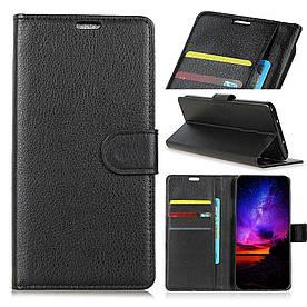 Чехол книжка для Samsung Galaxy J2 Core 2018 J260 боковой с отсеком для визиток, черный