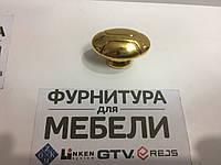 Ручка мебельная кнопка РГ.3040 Золото