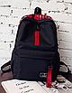 Рюкзак городской молодежный Be Your Черный с красными лентами, фото 2
