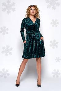 Платье Оби 0441_3 изумрудный